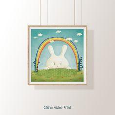image 0 Celine, Illustration, Instagram, Etsy, Image, Poster Poster, Rabbits, Impressionism, Bonheur