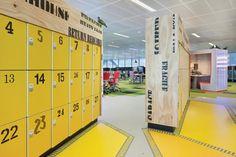 Employee Lockers at One Shelley Street, Sydney, NSW Designed by Woods Bagot Pty Ltd
