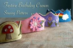*** This is an Instant Download pdf Pattern that you can instantly and print at home immediately after you purchase *** Sewing a personalized birthday crown for your little boy or girl is easier than you think. In an afternoon you can create a festive birthday crown for your child to wear