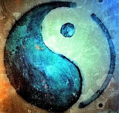 Grunge Yin Yang Water Is Precious macro photograph of my first alcool ink painting, 'Grunge Yin Yang is the Yin Yang symbole with blue and white (blue to represent water on earth and white as a symbol of purity ..I distressed the look of my painting digitaly to make it look old and used..kind of a reminder to all of us that we must be careful and caring better about our precious water and reduce pollution. Mon premier tableau d'encre alcool représentant un Yin Yang bleu (eau) et blanc…