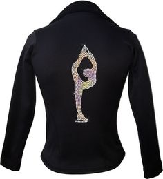 This beatiful figure skating jacket is made from Polartec Fabric and is sure to keep you warm while you skate. This jacket comes with an added bonus! We can put your name on the back using Premium Quality Rhinestones.