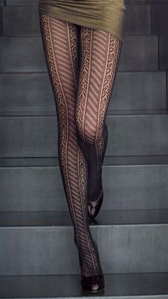 Patterned tights.