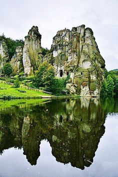 Externsteine: Germany's Sacred Stone Formation- an incredible site with history dating back to the Stone Age.