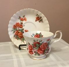 Royal Albert  CENTENNIAL ROSE- Tea Cup and Saucer.  Made in England  -Vintage by…