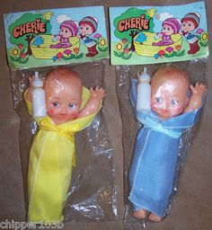 "Image detail for -DIME STORE "" CHERIE "" BABY DOLLS, HONG KONG (1960'S) Completed"
