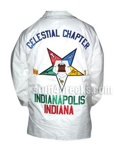 Fully Customizable Order of Eastern Star Line Jacket - OES Crossing Jacket  Item Id: CUS-OES-XJ  Price:  $79.00