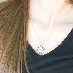 Initial Necklace Wax Seal Necklace Silver Initial by outoftheblue