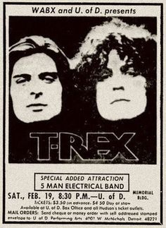 Rex's leader Marc Bolan Tour Posters, Band Posters, Music Posters, Event Posters, Film Posters, Soulful Christmas, Acid Rock, Music Flyer, Poster