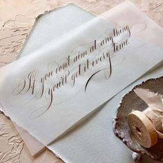 Can I get an amen for this Faith Flourish?? Aim high! Happy Sunday!  . #calligraphy #faithflourishes #sunday #amalfipaper #vellum #handmadepaper #onestonewest #walnutink #copperplate #flourish #calligraphymasters #thedailytype #goodtype