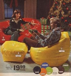 Beanbags in the 1975 Christmas Montgomery Ward catalogue.