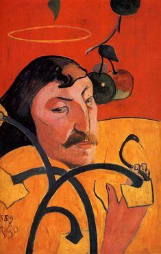 Art contemporani, Autorretrato con halo de Gauguin, Postimpressionismo