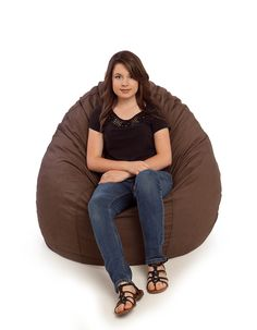 Our cotton bean bag chairs come in a variety of high-quality, washable, and removable covers in small and large sizes with a 10 year warranty. Leather Bean Bag Chair, Large Bean Bag Chairs, Chocolate, Cotton, Chocolates, Brown