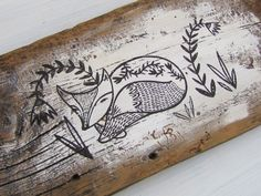 Original Painting on Antique Barn Board - Rustic and Beautiful - Painting No 15 by pipodoll on Etsy
