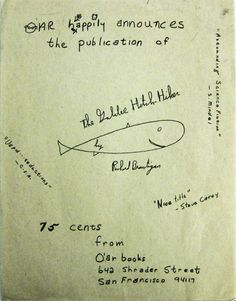 richard brautigan signed - Google Search