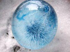Frozen water balloon by Brenda McKenzie