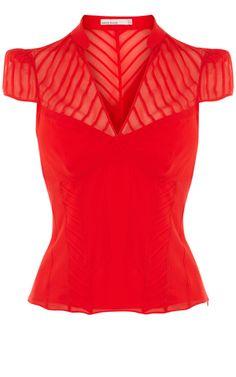 Karen Millen  Elegant and feminine  #karenmillen #red