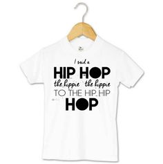 """Hip, hip HOP into Easter in style with this edgy, fun toddler t-shirt. It features playful text with lyrics from 'Rapper's Delight': """"I said a hip hop the hippy the hippy to the hip hip hop"""". The great thing about this unique tee is that it can be worn even after Easter is over."""