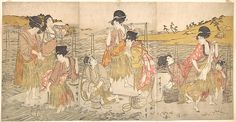 Kitagawa Utamaro (Japanese, 1753?–1806). The Dance of the Beach Maidens, early 19th century. The Metropolitan Museum of Art, New York. H. O. Havemeyer Collection, Bequest of Mrs. H. O. Havemeyer, 1929 (JP1683)