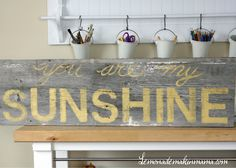 barnwood sign--would match the bedroom