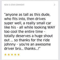 Sometimes my passengers are pretty cool.  #Uber #5stars #instashare