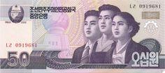 Motivseite: Geldschein-Asien-Nordkorea-원-50-2002