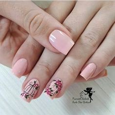 34 bright floral nail designs you should try for spring 2019 032 - Spring Nails Light Colored Nails, Light Nails, Colorful Nail Designs, Nail Art Designs, Pink Nails, My Nails, Gradient Nails, Acrylic Nails, Cute Nails