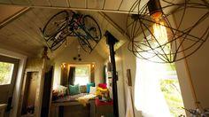tiny house bike storage idea