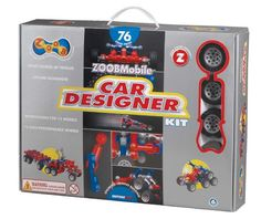 The ZOOBMobile Car Designer kit includes 76 ZOOB pieces in special colors designed for building vehicles. There are 12 wheels with rubber tires that are notched to work like gears, and three guides with instructions for 12 models. This deluxe set of ZOOB Top Gifts For Boys, Cool Toys For Boys, Ri Happy, Construction For Kids, 6 Year Old Boy, Electronic Toys, Top Toys, Kit, Looks Cool