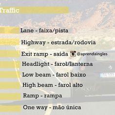 Vocabulary about traffic  Parte 2 #Tips #LearnEnglish #Dicas #AprendaIngles #TrafficSigns