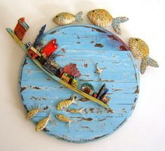Tony Britnell - Round harbour, three top fish panel