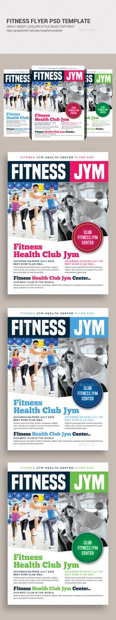 Fitness Flyer Vol1 Print, Creative and Advertising - fitness flyer