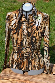 Animal Print Rail Shirt or Rail Jacket! Could be worn as an all-day jacket too!  Custom made by KLS Designs Show Clothing
