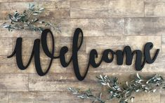 Large Welcome Sign, Welcome Wood Cutout Sign, Wedding Welcome Sign, Medium Welcome Sign, Small Welco Welcome Words, Metal Welcome Sign, Welcome Letters, Wedding Welcome Signs, Wedding Signs, Metal Signs, Wood Signs, Church Foyer, Church Lobby