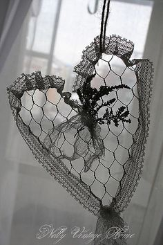 wire gauz heart