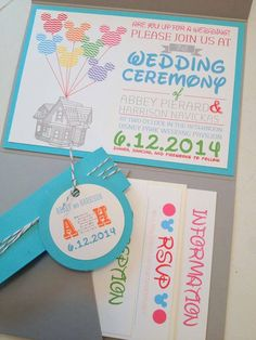 I cannot WAIT for my guests to get these.. The ANDERSON'S ROCK :)  Disney Pixar UP inspired Pocket Wedding Invitation