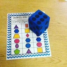 Practice naming shapes with this roll and read. Students roll the dice and have to quickly name the shapes in the column.