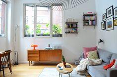 Hanging shelves for books, long armoir for storage