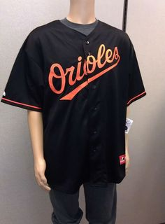 Just $44.99 & FREE SHIP !! Baltimore Orioles Replica Jersey 2XL Big & Tall Majestic Black NEW/NWT $110 RET #Majestic #BaltimoreOrioles