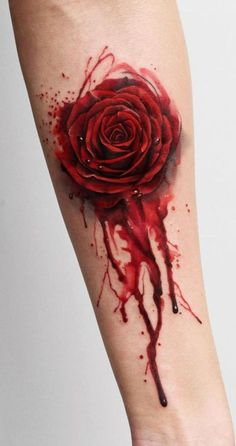 watercolor rose tattoo © tattoo artist Deborah Genchi 💜🌹💜🌹💜🌹💜 Neue Tattoos, Body Art Tattoos, Tattoo Drawings, Top Tattoos, Tatoos, Piercing Tattoo, Piercings, Watercolor Rose Tattoos, Geniale Tattoos