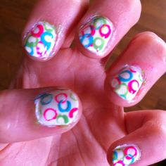 Dip ends of staws in nail polish for this cool look. Want to do this!