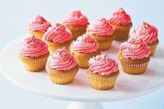 Dairy-free strawberry and vanilla cupcakes