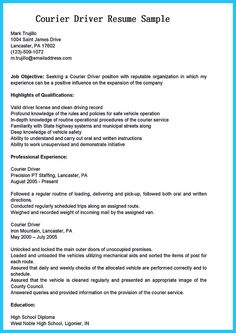 find this pin and more on resume sample template and format - Truck Driver Resume Template