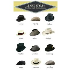 12 hat styles