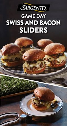 Promoted by Sargento®. These Swiss-and-bacon-topped cheeseburger sliders are small in size but big in taste. Serve them at your game day party so your guests have a free hand to cheer on their team. Click through to the full recipe.