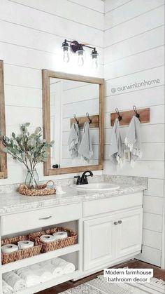 Bathroom Inspiration, Home Decor Inspiration, Bathroom Ideas, Small Bathroom, Wood In Bathroom, Decor Ideas, Neutral Bathroom, Bathroom Inspo, Budget Bathroom