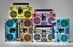 berlin boombox: a cardboard boombox that works!