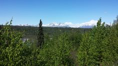 Mt. McKinley mountain range taken from Telkeetna approximately 65 miles away.