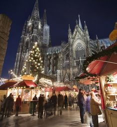 Cologne Christmas Market.  Oh to have a backdrop like that.