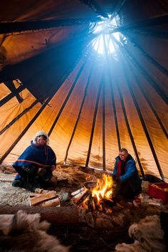 Lavvu is a temporary dwelling used by the Sami people of northern Scandinavia.  About 20,000 Sami live in Sweden – with their own cultural heritage, language, flag and parliament. Photo by; Lola Akinmade