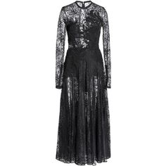 Elie Saab Macramé Lace Midi Dress (126.870 ARS) ❤ liked on Polyvore featuring dresses, black, calf length dresses, long sleeve midi dress, long-sleeve lace dress, long sleeve lace dress and elie saab dresses